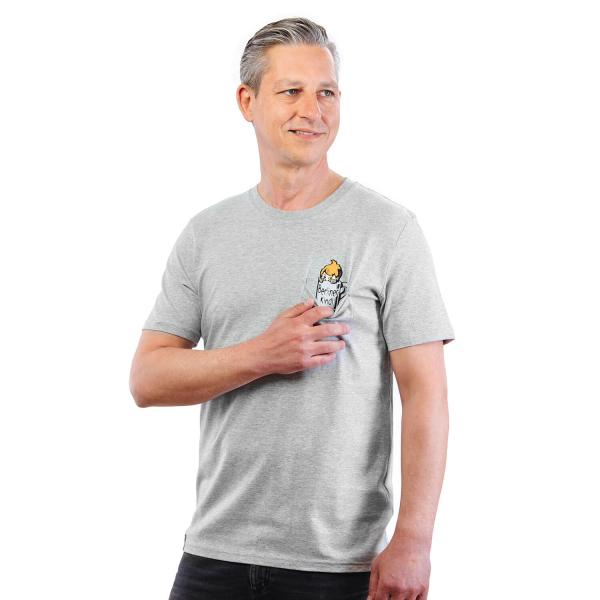 Berliner Kindl Retro T-Shirt mit Brusttasche